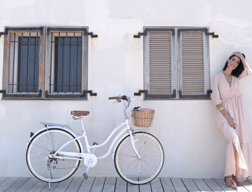 eight30 castro white bicycle mango dress