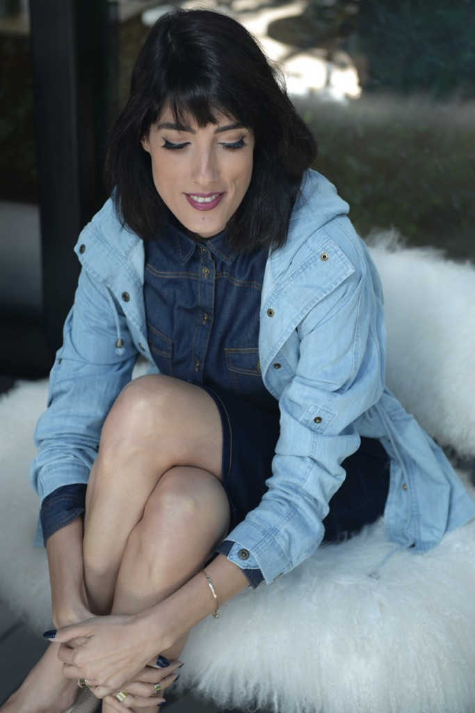 eight30 renuar denim shirt skirt jacket