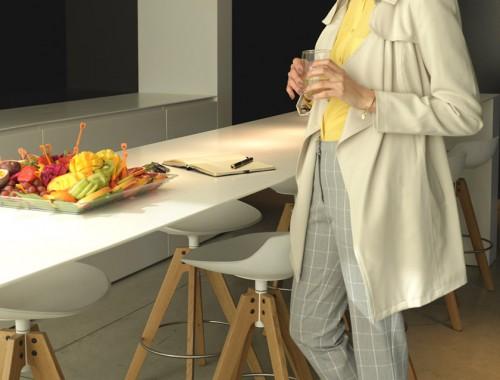 eight30 - castro - trench coat - yellow - fruit