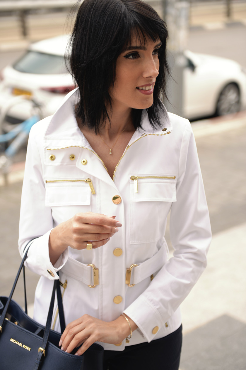 eight30 - michael kors - white jacket - spring - tommy hilfiger