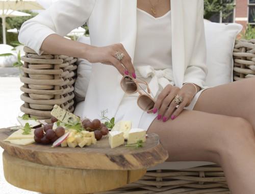 eight30 - cramim spa & wine - Shavuot - White look - h.stern - cheese - Sunglasses - erroca - castro