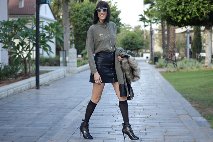 eight30 - army green - military chic - stradivarius - zara - H.stern - pearls - dior sunglasses