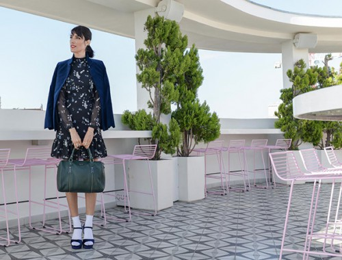 eight30 - velvet dress jacket heels - h.stern - chanel makeup - castro - zadig & voltaire - the poli house hotel tel aviv