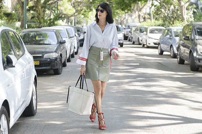 eight30 - dior sunglasses - tommy hilfiger - celine bag - tel aviv street style - zara - liat gilad jewelry