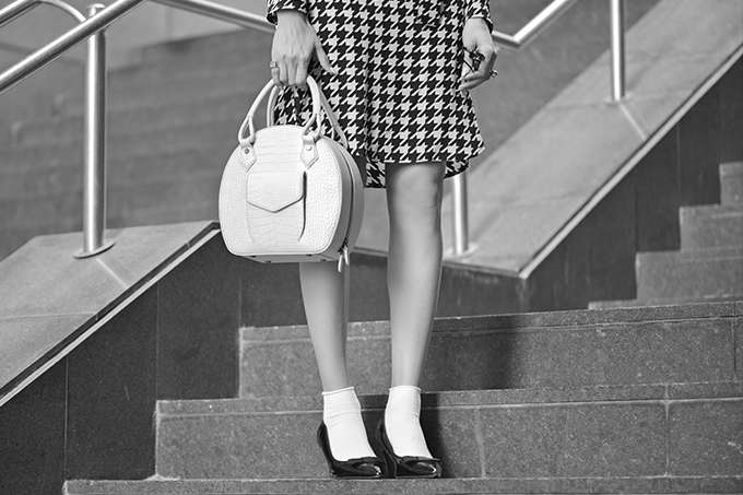 EIGHT30, black & white, tel aviv street style, Salvatore Ferragamo, martella bags,