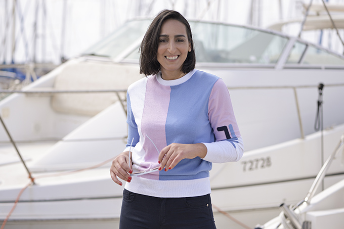 EIGHT30, Vered Bouskila, Olympic sailor, Israeli Olympic Committee, Tel Aviv street style, Fila, Marina, Boat, sportswear