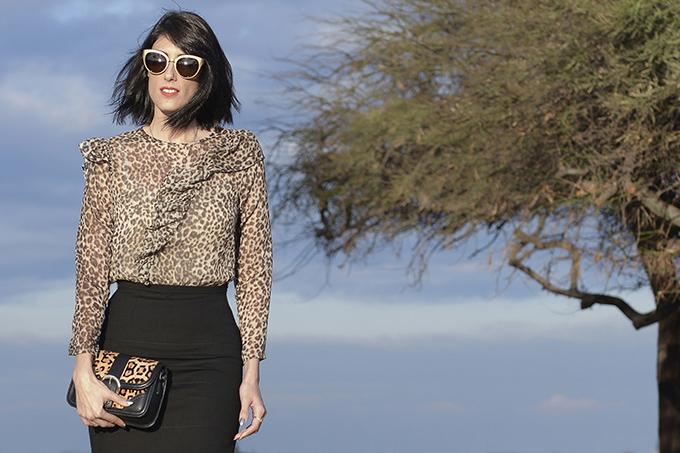 EIGHT30 - topshop - H.Stern Sunglasses - Leopard trend - coat - heels - handbag - tel aviv street