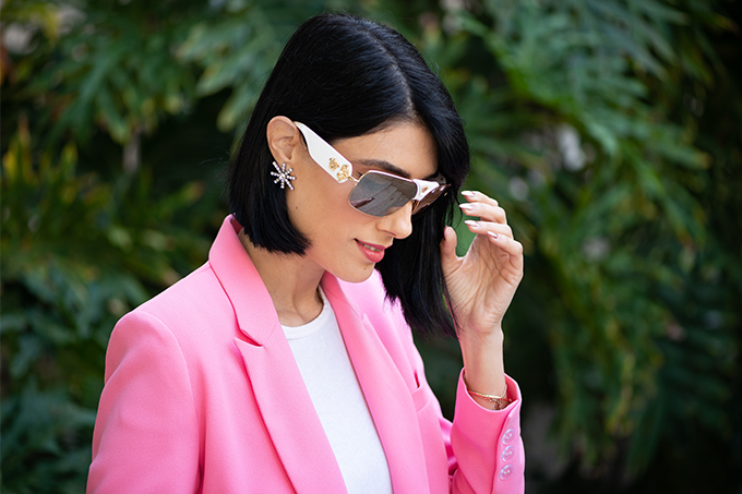 EIGHT30 MAYA NEGRI versace sunglasses Paula bianco jewelry