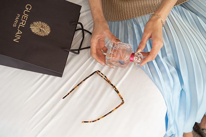 EIGHT30 30 Mon Guerlain Edt Bloom Of Rose sweater zara skirt heels intercontinental hotel tel aviv