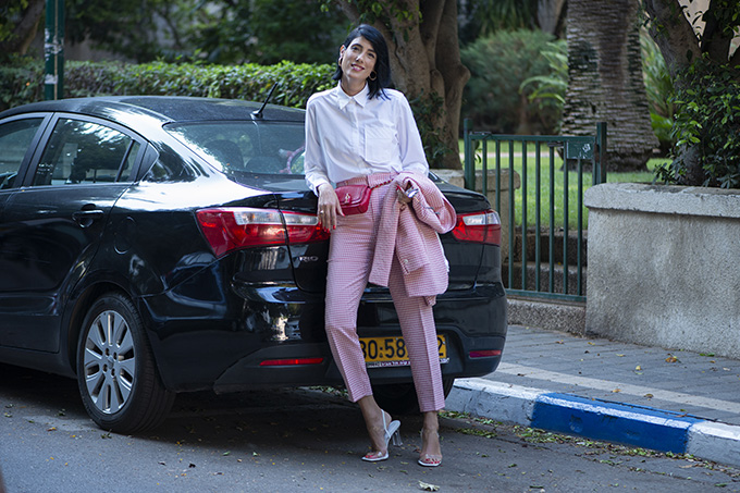 EIGHT30 The fall winter 2019-2020 fashion trends Tel Aviv street style zara Check suit 3