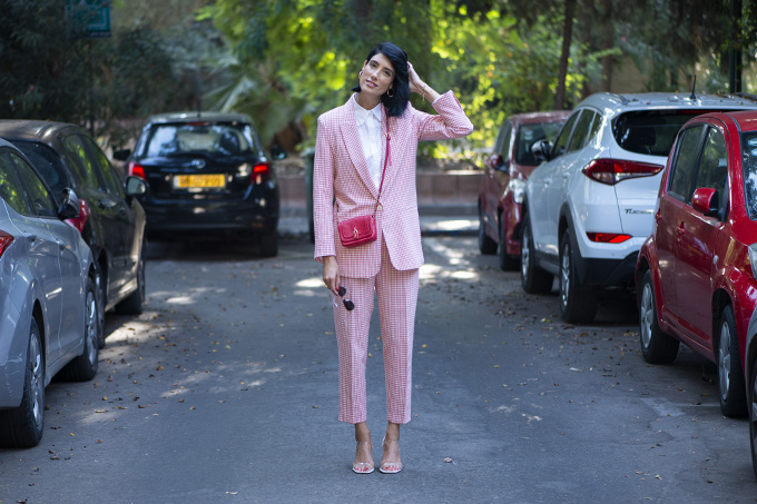 EIGHT30 The fall winter 2019-2020 fashion trends Tel Aviv street style zara Check suit