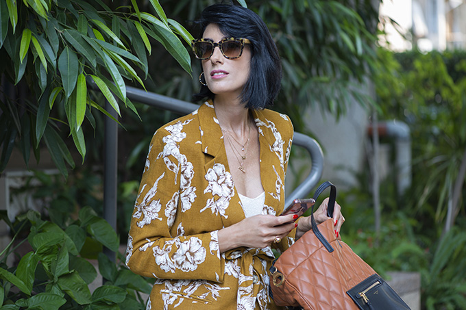EIGHT30 The fall winter 2019-2020 fashion trends Tel Aviv street style zara floral suit givenchy